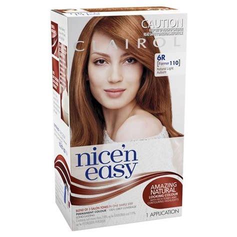 clairol nice  easy  natural light auburn  hair