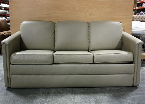 Rv Furniture Used Rv Flexsteel Ultra Leather Sleeper Sofa