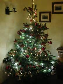 a rural tree all decorated