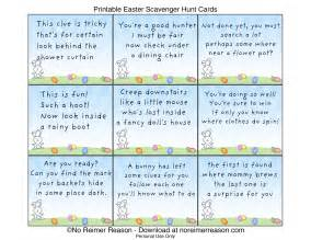 Easter Scavenger Hunt Clues Riddles Printable # 2016 Car