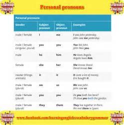 Personal Pronoun Examples