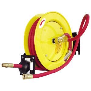 amflo 3 8 in x 25 ft rubber retractable hose reel 510hr