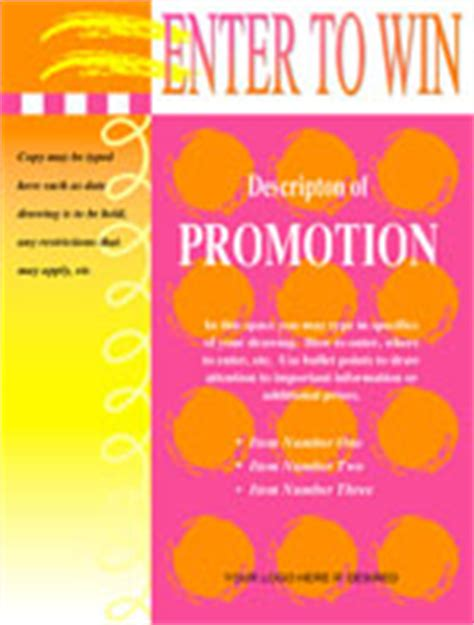 enter to win template printable event and promotion signs xerox for small medium businesses