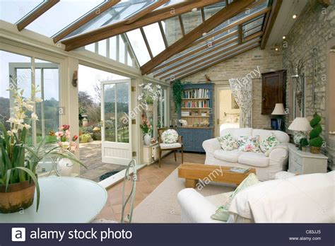 Conservatory Garden Room Stock Photo, Royalty Free Image