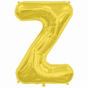 gold letter z 16 inch foil balloon With 16 inch gold letter balloons