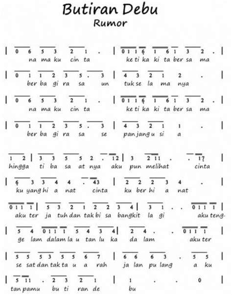 100 not angka lagu pop pianika anak anak balok laskar pelangi