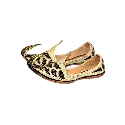 khimar triangle indian beak shoes khussa in gold black style