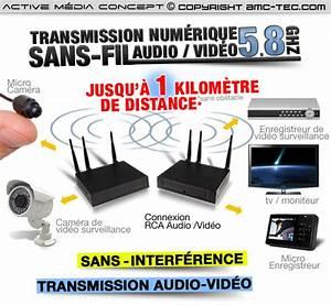 Transmetteur Sans Fil Tv : tx rx 58 kit de transmission numerique audio video sans ~ Dailycaller-alerts.com Idées de Décoration