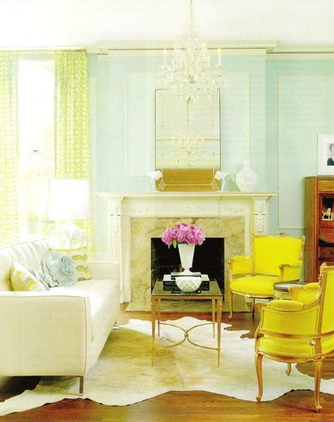 yellow and living room a fresh take on yellow and blue decorating the decorologist