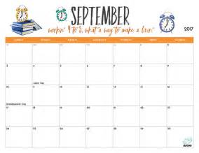 2017 Printable September Calendars Imom