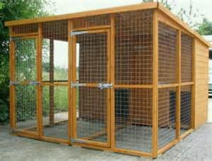 Outdoor Dog Run Kennel Design