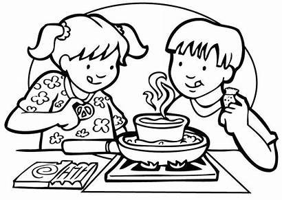 Coloring Cooking Pages Printable Class Getcolorings Getdrawings