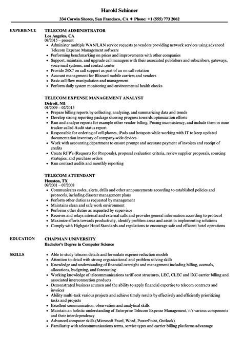 telecom resume samples velvet jobs