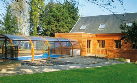 abri piscine haut cintr 233 bois abrisud fabricant abri de piscine haut en bois