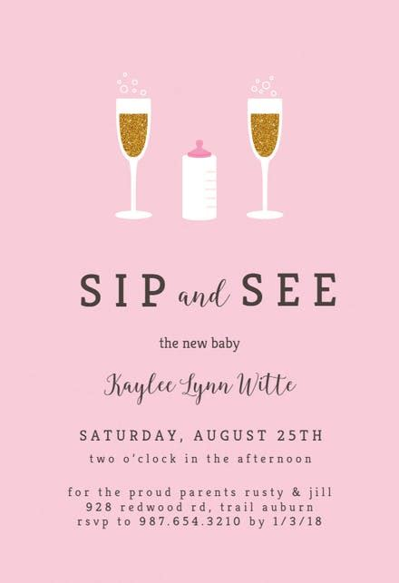 sip  invitation templates   island
