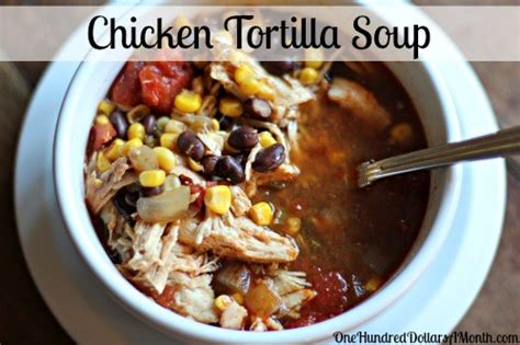 easy crockpot soup recipes easy slow cooker recipes chicken tortilla soup one hundred dollars a month