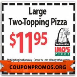 Imo's Pizza Coupons Printable
