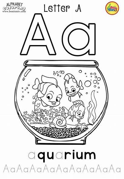 Coloring Preschool Alphabet Pages Worksheets
