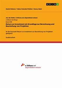Roi Rechnung : return on investment als grundlage zur berechnung und beurteilung masterarbeit hausarbeit ~ Themetempest.com Abrechnung