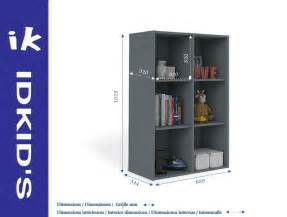 Rangement 6 Cases : casier de rangement six cases gris anthracite idkid 39 s ~ Teatrodelosmanantiales.com Idées de Décoration