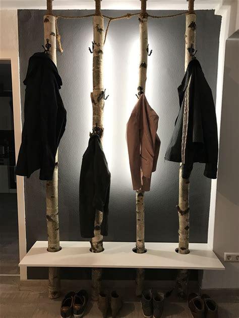 garderobe aus birkenstaemmen aus birkenstaemmen