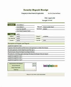 5 deposit invoice templates free sample example With invoice for security services