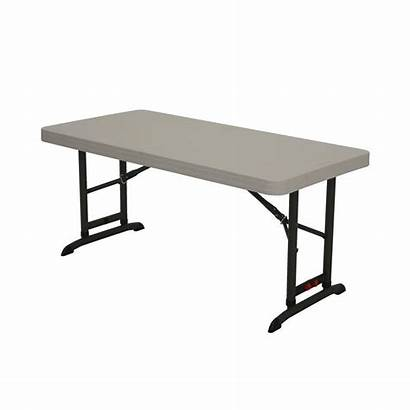 Folding Lifetime Adjustable Tables Plastic Depot Almond