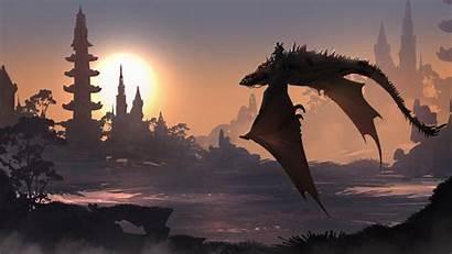 Dragon Fantasy 4k 5k Flying Having Dreamy