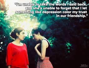 tells    depression affects