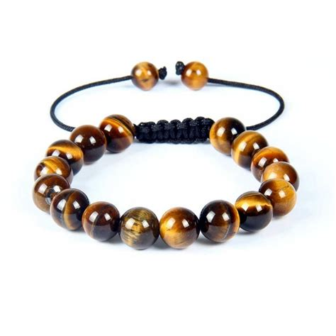 Tiger Eye Shamballa Bracelet Gemstone Beads