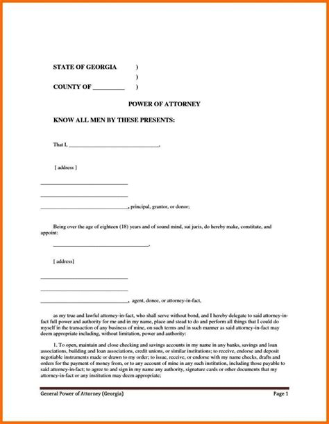 simple power of attorney form template sletemplatess sletemplatess