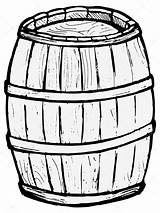 Barrel Wooden Vector Drawing Pages Illustration Keg Coloring Barrels Template Beer Sketch Background Cliparts Simpsons Depositphotos St sketch template