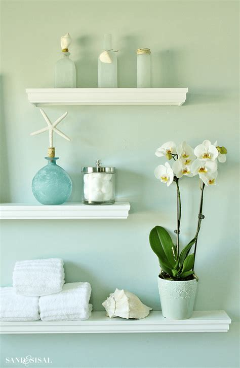 decorate bathroom shelves  enhanced relaxation