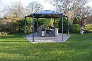 Pavillon Mit Doppelstegplatten : pavillon monaco bxt 438x438 cm online kaufen otto ~ Whattoseeinmadrid.com Haus und Dekorationen