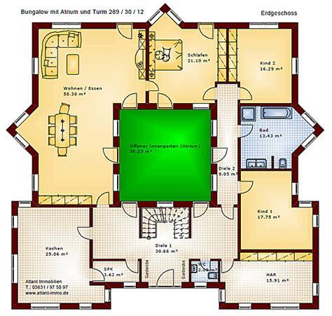 Bungalow Mit Atrium by Atrium 289 30 12 Bungalow Mit Turm Schloss Einfamilienhaus