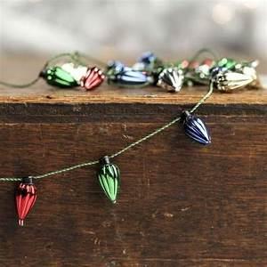 Miniature Christmas Light Bulb Garland Miniature Metallic Light Bulb Garland Christmas Garlands