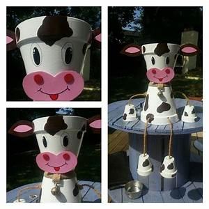 Creation Avec Des Pots De Fleurs : deco pot de terre vache deco bricolage pot de fleurs ~ Melissatoandfro.com Idées de Décoration