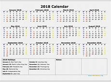 September 2018 Calendar Canada calendar template word