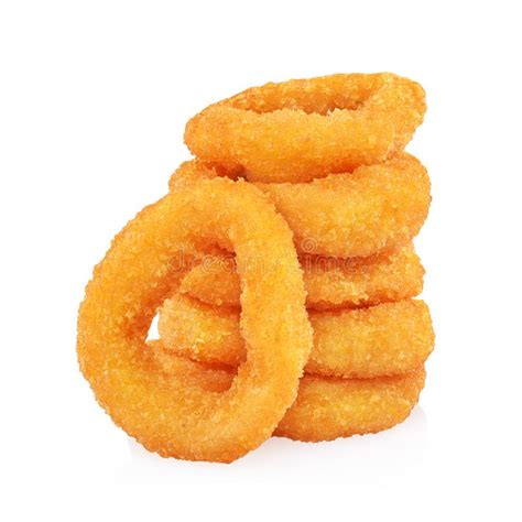 stack  crispy onion rings stock photo image
