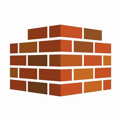 Bricks Vector Icon Block Cement Background Illustration