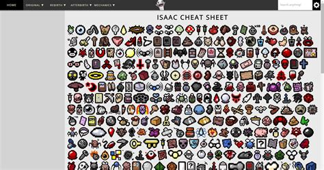 isaac cheat sheet isaac cheat sheet