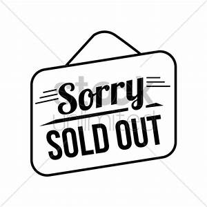 Sorry sold out signboard Vector Image - 1520928 ...