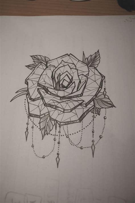 rose tattoo  dot work chains tattoos tattoos rose