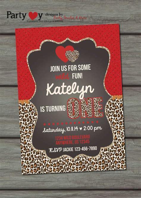 leopard birthday invitation leopard print