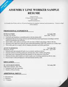 Production Description For Resume by Resume Objective Exles For Warehouse Worker Template