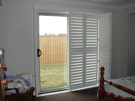 plantation shutters for sliding glass doors ideas