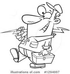 11271 electrician clipart black and white electrician clipart 1294007 illustration by toonaday