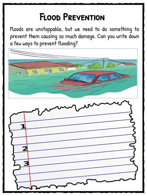 flood facts worksheets information  kids flood