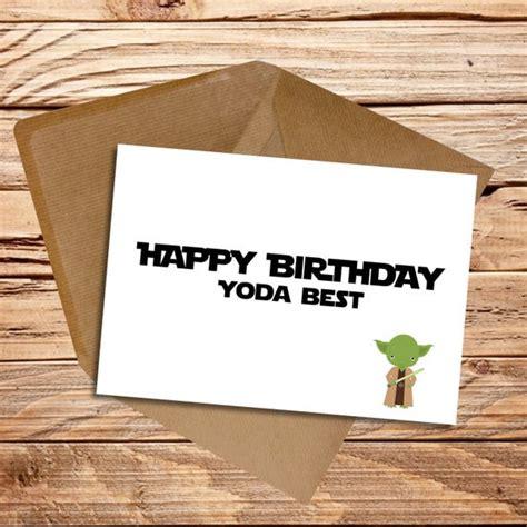 Un nouvel espoir (le star wars original quoi). Carte D'anniversaire Yoda Luxury Carte De Joyeux ...