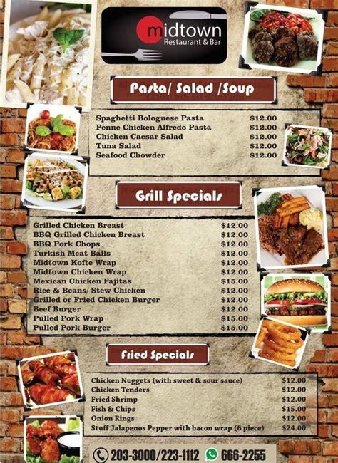 Office Menu - Midtown Restaurant & Bar